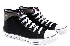 Promo Garucci Ls 1141 Sepatu Sneaker Pria Canvas Keren Dan Stylish Hitam Kombinasi Akhir Tahun