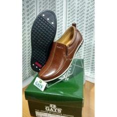 GATS SHOES Sepatu Kulit Pria PU 7707 BROWN 629be8aa62