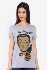 GatsuOne Pakaian Atasan T-Shirt Kaos Wanita Roanne Tshirt Grey Misty Diskon discount murah bazaar baju celana fashion brand branded