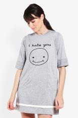 GatsuOne Pakaian Atasan T-Shirt Kaos Wanita Yachiyo Lt.Grey Misty Diskon discount murah bazaar baju celana fashion brand branded