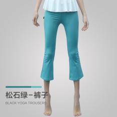 Beli Gaueneen Yoga Pakaian Musim Semi Dan Musim Panas Berjalan Kebugaran Room Perempuan Celana Ketat Cepat Kering Celana N6102 Pirus Hijau Nyicil