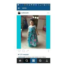 Gaun Frozen Fever Elsa / Baju Pesta Anak Import Dropshiper 391