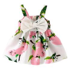 Gaun Motif Bunga Kecil Anak Musim Panas
