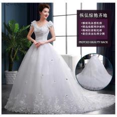 Gaun Pengantin Ekor Baju Pengantin Ekor -Wedding Dress 2017 Dl005-Yy - Ksixmr