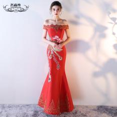 Beli Kata Perempuan Fishtail Long Bridal Dress Merah Merah Merah Murah