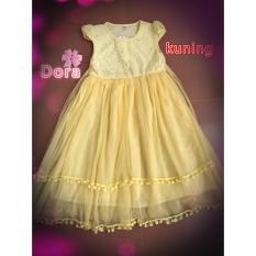 gaun pesta anak mewah kuning 4,6.8.10 tahun / Dress pesta anak kuning/Gaun fashion anak /Dress fashion/Hadiah ulang tahun