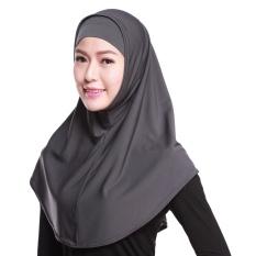 Gauze Kerchief Muslim Jilbab Muslim Syal Islam Wanita Kerchief Yang Hui Kebangsaan Head Cover Abu-abu-Internasional