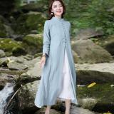 Katalog Gaun Cheongsam Katun Gaya Cina Hijau Muda Dua Potong Hijau Muda Dua Potong Oem Terbaru