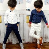 Jual Gaya Inggris Baju Kemeja Anak Laki Laki Kemeja Putih Musim Semi Model Bagian Tipis Murah