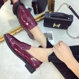 Spesifikasi Gaya Inggris Nasihat Ayat Yang Sama Sepatu Sepatu Anggur Merah Sepatu Wanita Flat Shoes Murah