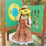 Jual Cepat Gaya Jepang Anak Rusa Tupai Musim Gugur Suspender Gaun Kemeja Sling Gaun Baju Wanita Dress Wanita Gaun Wanita