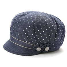 Gaya Jepang Musim Semi atau Gugur Baru Perempuan Topi Baret Topi (Biru)
