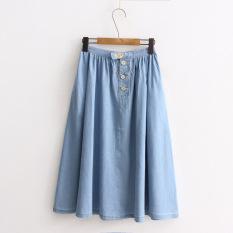 Harga Gaya Korea Jeans Semi Dan Musim Panas Rok Light Blue Baju Wanita Rok Oem