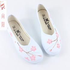 Spesifikasi Gaya Kuno Retro Flat Shoes Sepatu Wanita Sepatu Kanvas Datar Harapan Musim Semi Bedak Sepatu Wanita Sepatu Sport Sepatu Sneakers Wanita Dan Harga