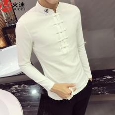 Dimana Beli Gaya Oriental Korea Fashion Style Pria Slim Legging Bottoming Kemeja V Neck T Shirt Putih Baju Atasan Kaos Pria Kemeja Pria Oem