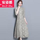 Beli Gaya Cina Model Musim Semi Baru Pakaian Wanita Peningkatan Rok Cheongsam Cheongsam Abu Abu Terang Online