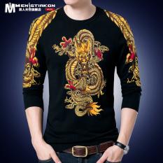 Jual Kaos Pria Lengan Panjang Gaya China Kerah Bulat Golden Dragon 1881 Golden Dragon 1881 Oem Asli