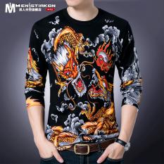 Diskon Kaos Pria Lengan Panjang Gaya China Kerah Bulat Hitam Dragons 9877 Hitam Dragons 9877 Oem Tiongkok