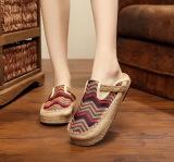 Review Gaya Romawi Linen Untuk Pria Dan Wanita Melalui Memakai Sepatu Besar Sepatu Kopi Warna Sepatu Wanita Sandal Wanita Oem Di Tiongkok