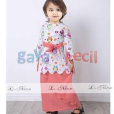 Gaya Si Kecil Setelan baju muslim anak impor L Nice Owl Fuschia Pink muda salem cewek perempuan cantik lucu