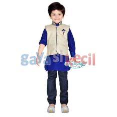 Gaya Si Kecil Setelan Koko Baju Muslim Anak Cowok Laki impor Sensukei branded celana jeans india biru