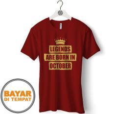 GCP Kaos Distro T Shirt Pria BULAN LAHIR OKTOBER - GCP106
