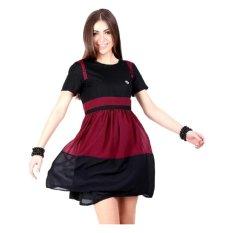 GeeArsy Dress Wanita Sifon Geearsy - Hitam