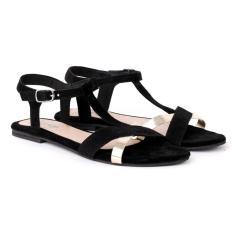 Jual Geearsy Sandal Flat Wanita Yyt 7337 Hitam Grosir
