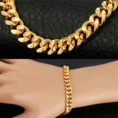 Gelang Fashion Lapis Emas Gelang Tangan Model Korea Import