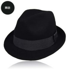 Pria Wanita Jazz Ikatan Simpul Keras Merasakan Panama Bowler Hat ... 20c98d430c