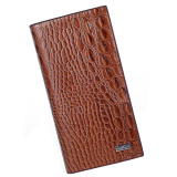 Genuine Crocodile Leather Mens Wallet Cash Clip Card Holder Brown Intl Original