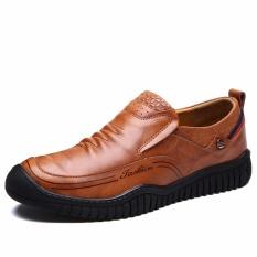 Sepatu Kulit Asli Pria Winter Work & Keselamatan Sepatu Kasual Designer Tinggi Meningkatkan Sepatu-Intl