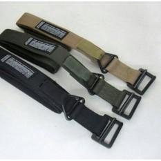 Gesper Ikat Pinggang Blackhawk Import Berkualitas (Tactical Belt/ Full Besi/ Sabuk Outdoor) - Hijau army