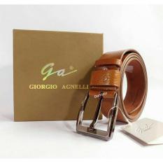 GESPER IKAT PINGGANG KULIT IMPORT PRIA ORIGINAL GIORGIO AGNELLI 906 BROWN