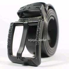 GESPER IKAT PINGGANG KULIT PRIA SELAPIS Branded BLACK/HITAM
