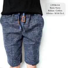 Harga Gfs Celana Pendek Pria Model Distro Gaul Dark Navy Twotone Pants 114 Asli Lokal Brand