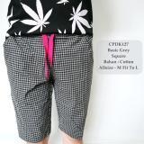 Jual Gfs Celana Pendek Santai Fashion Pria Distro Basic Grey Square Casual 127 Online Indonesia