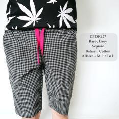 Jual Gfs Celana Pendek Santai Fashion Pria Distro Basic Grey Square Casual 127 Branded Murah
