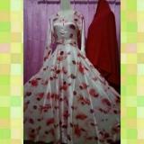 Ulasan Tentang Ghaida Collection Exclusive Set Dress Muslim Gamis Syarie Sateen Silk Red Velvet