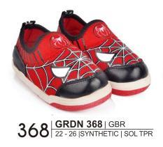 Giardino Grdn 368 Sepatu Bayi Casual Laki-Laki Bahan Syntethic - Sol Tpr/Anti Slip - Hak 2 Cm Lucu Dan Imut ( Merah Kom )