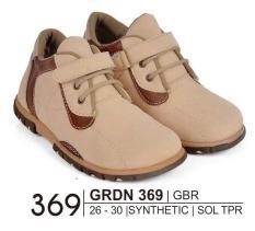 Giardino Grdn 369 Sepatu Bayi Casual Laki-Laki Bahan Syntethic - Sol Tpr/Anti Slip - Hak 2 Cm Lucu Dan Imut ( Crem Kom )