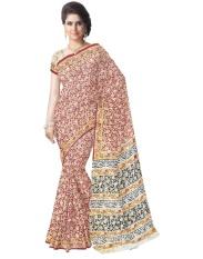 Hadiah Piper Cotton Multocolor Kalamkari Sarees (Panjang: 5.5 MTR)-Intl