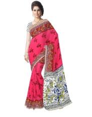 Hadiah Piper Cotton Pink Kalamkari Sarees (Panjang: 5.5 MTR)-Intl