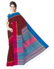 Hadiah Piper Cotton Silk Anggur Bengal Handloom Sarees (Panjang: 5.5 MTR)-Intl