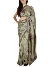 Gift Piper Silk multocolor Kalamkari Sarees (Length:5.5 mtr) - intl
