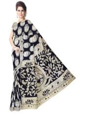 GiftPiper Silk Blue Kalamkari Sarees - intl