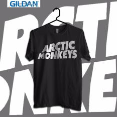 Beli Gildan Custom Tshirt Arctic Monkeys Black Logo Yang Bagus