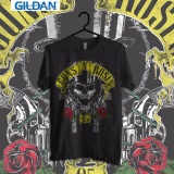 Gildan Custom Tshirt Guns And Roses Skull 85 Asli