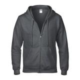 Dapatkan Segera Gildan Heavy Blend 88600 Sweater Hoodie Ziphood Dark Heather