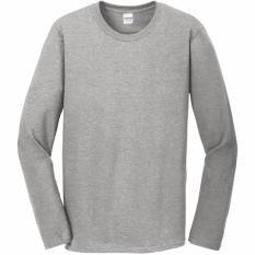 Ulasan Gildan Premium Cotton 76400 Kaos Polos Long Sleeve Misty